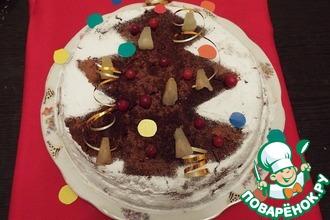 Торт «Ананасы в шоколаде»
