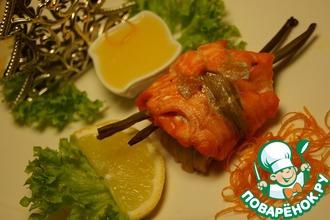 Дуэт из двух видов рыб с апельсиновым соусом