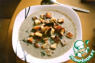 Крем-суп пюре из шампиньонов на сливках