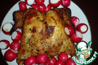 Курица, фаршированная ананасами с имбирем