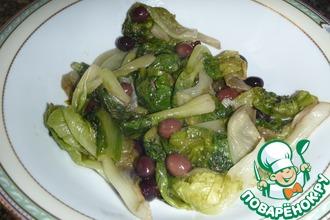 Скарола с анчоусами и оливками
