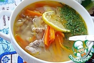 Рыбный суп с белой фасолью