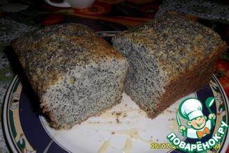Маковый кексик в форме хлебца
