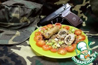"""Свиные пальчики """"Боеприпасы солдата"""", фаршированные грибами и сыром"""