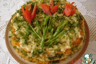 Овощной торт с сыром