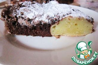 Шоколадный пирог с творожно-манными шариками