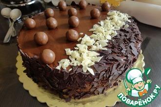 Торт с шоколадным муссом и грушевым желе