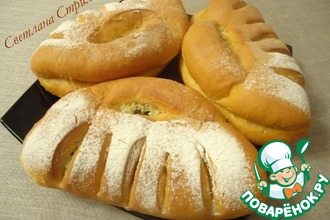 Томатный хлеб с чесноком, сыром и зеленью