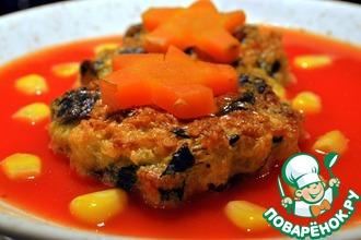 Пшённо-шпинатные Timbale с томатным соусом