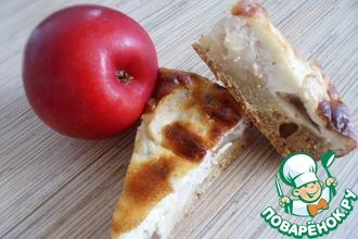 Яблочный пирог с сырным суфле