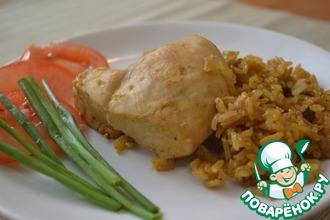 Курица с рисом-карри по-тайски