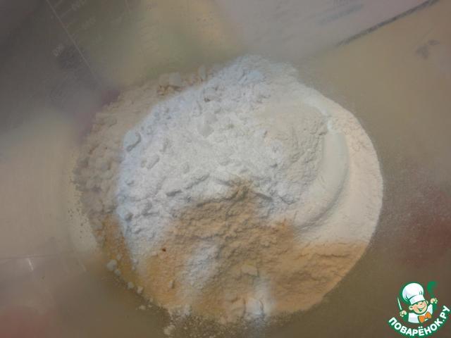 Берем сухие ингредиенты и смешиваем их в миске.