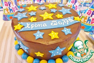 Разноцветный торт с шоколадным муссом