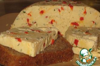 Домашний твердый сыр с перчиком и укропом