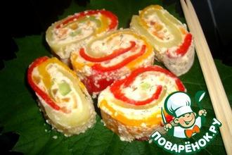 Роллы из болгарского перца