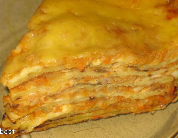 """Оригинальный картофельный торт """"А-ля лазанья"""""""