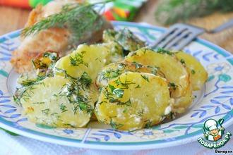 Картофель со сливками и укропом