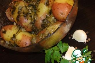 Ароматный картофель в соусе из петрушки