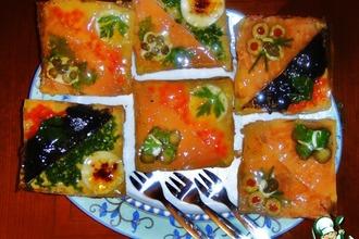 Закусочные бутерброды «Под стеклом»