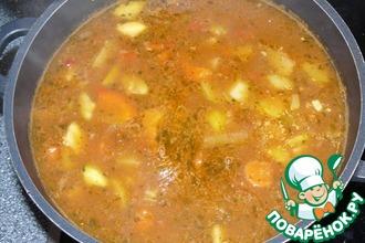 Овощной суп с мясом