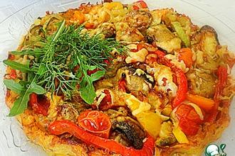 Сырно-овощной тарт