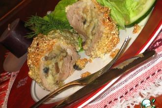 Свиные рулетики с картофелем и грибами