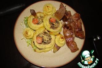 Ватрушки картофельные с грибами