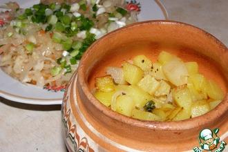 Тушеный картофель по-монастырски