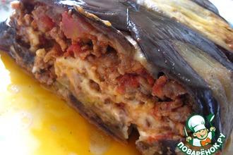 Баклажанная   шарлотка   с   мясом