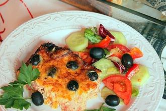 Клафути из тунца и помидоров с маслинами