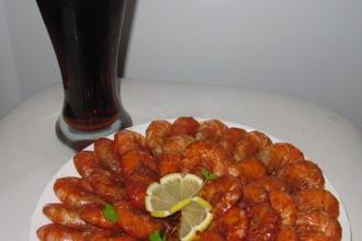 Креветки в остром соусе