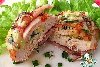 Куриные кармашки с беконом и сыром