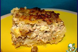 Луково-мясной пирог