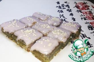 Пирожные из зеленого чая