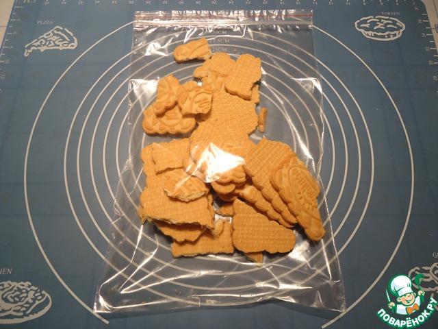 Печенье помещаем в пакет, пакет закрываем или завязываем.