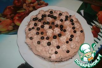 Шоколадно-смородиновый торт