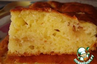Сметанный пирог с тeртыми яблоками