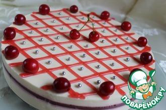 Ягодно-творожный торт