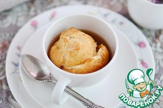 Заварные булочки с кофейно-ванильным соусом-карамель