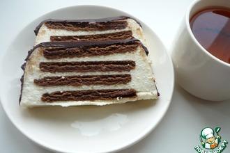 """Тортик без выпечки """"Полосатый"""""""