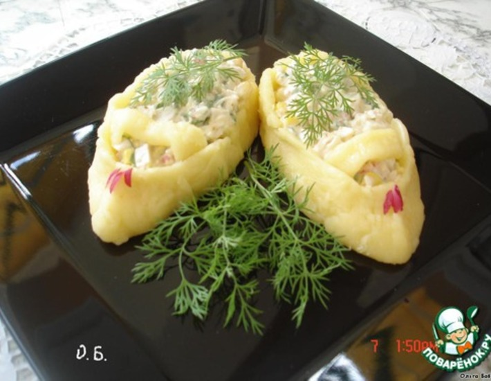 """Порционный салатик """"Башмачки"""""""