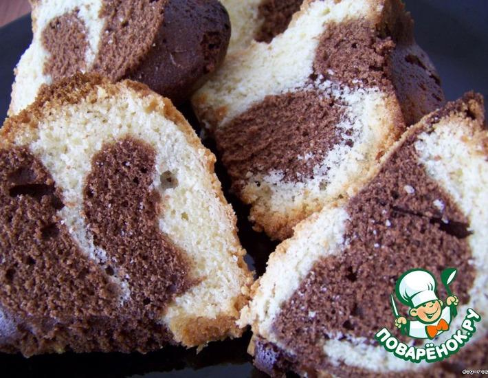 Лимонно-шоколадный кекс