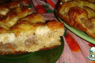 Пирог с фрикадельками