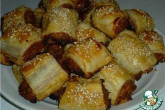 Закусочные пирожки с курино-луковой начинкой