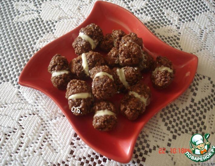 """Шоколадное печенье """"Поцелуйчики"""""""