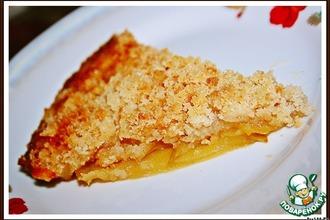 Хрустящий яблочный пирог с апельсиновым соком