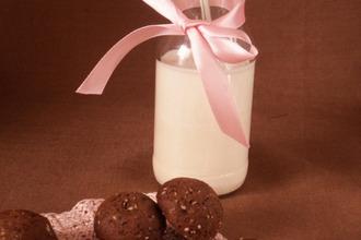 Шоколадное печенье с кунжутом