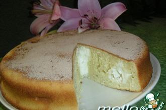 Пирог из топленого молока с творогом