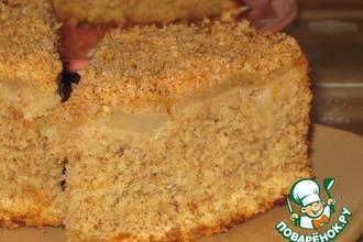 Пирог нежный миндально-яблочный
