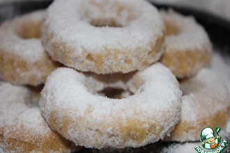 """Печенье """"Колечки"""" с сахарной пудрой"""